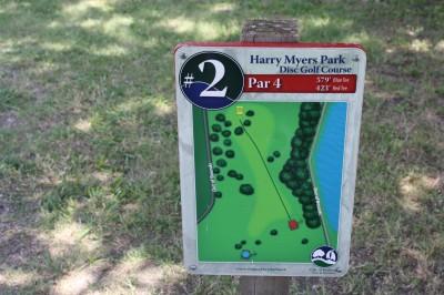 Harry Myers, Main course, Hole 2 Hole sign