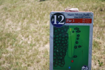 Harry Myers, Main course, Hole 12 Hole sign