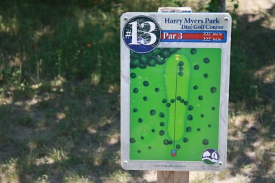Harry Myers, Main course, Hole 13 Hole sign