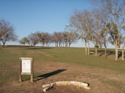 Old Settlers' Park, Main course, Hole 18 Tee pad