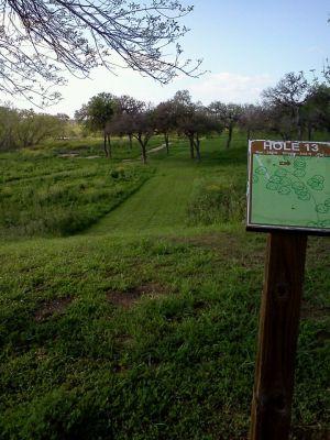 Lackland Adventure Center, Main course, Hole 13 Tee pad