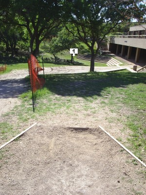 Texas State Campus West Park, Main course, Hole 9 Tee pad