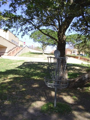 Texas State Campus West Park, Main course, Hole 9 Reverse (back up the fairway)