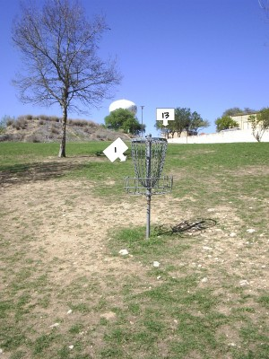 Texas State Campus West Park, Main course, Hole 1 Reverse (back up the fairway)