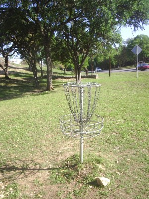 Texas State Campus West Park, Main course, Hole 14 Reverse (back up the fairway)