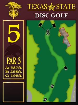 Texas State Campus West Park, Main course, Hole 5