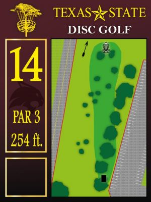 Texas State Campus West Park, Main course, Hole 14