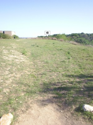Texas State Campus West Park, Main course, Hole 18 Tee pad