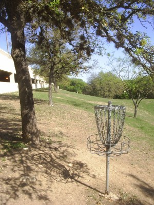 Texas State Campus West Park, Main course, Hole 12 Reverse (back up the fairway)
