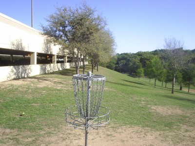 Texas State Campus West Park, Main course, Hole 13 Reverse (back up the fairway)
