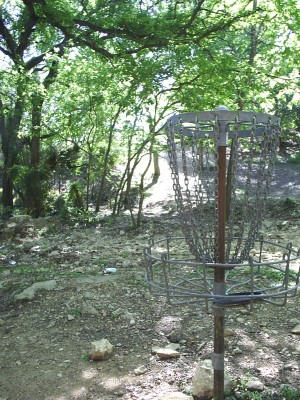 Texas State Campus West Park, Main course, Hole 7 Reverse (back up the fairway)