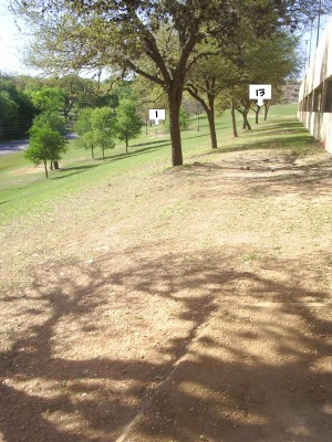 Texas State Campus West Park, Main course, Hole 13 Tee pad