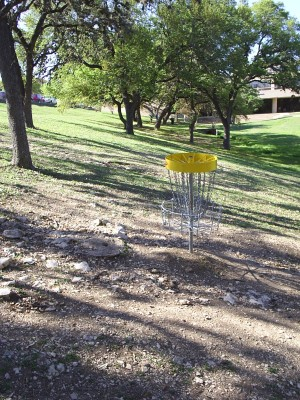 Texas State Campus West Park, Main course, Hole 10 Reverse (back up the fairway)