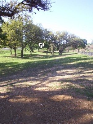 Texas State Campus West Park, Main course, Hole 15 Tee pad