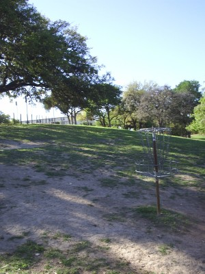 Texas State Campus West Park, Main course, Hole 11 Reverse (back up the fairway)