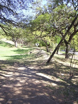 Texas State Campus West Park, Main course, Hole 3 Tee pad