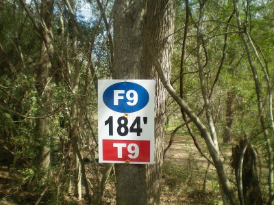 Spring Valley, Main course, Hole 9 Hole sign