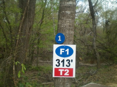Spring Valley, Main course, Hole 2 Hole sign