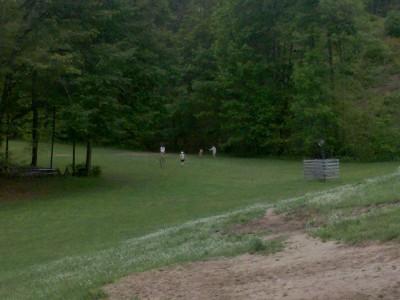 Hickory Hills, Main course, Hole 9 Tee pad