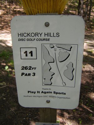 Hickory Hills, Main course, Hole 11 Hole sign