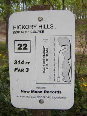 Hickory Hills, Main course, Hole 22 Hole sign