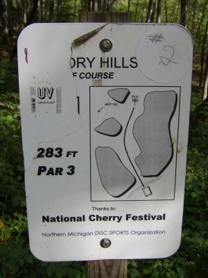 Hickory Hills, Main course, Hole 2 Hole sign