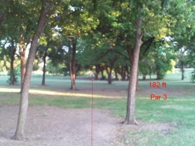 Bill Allen Memorial Park, Main course, Hole 6 Tee pad