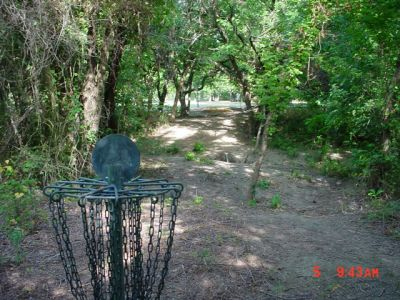 Bill Allen Memorial Park, Main course, Hole 3 Reverse (back up the fairway)