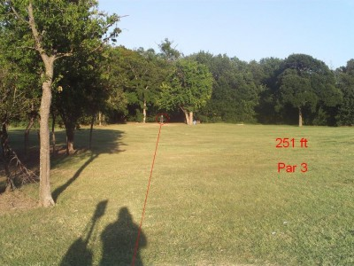 Bill Allen Memorial Park, Main course, Hole 1 Tee pad
