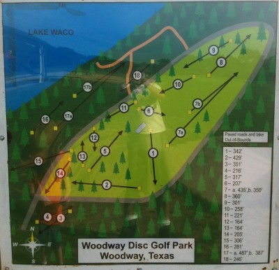 Woodway Park, Main course, Hole 1 Hole sign
