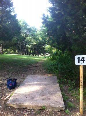 Woodway Park, Main course, Hole 14 Tee pad