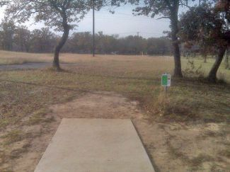 Weatherford Disc Golf Course, Main course, Hole 5 Tee pad