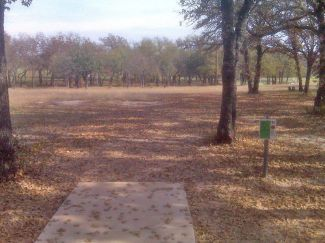 Weatherford Disc Golf Course, Main course, Hole 16 Tee pad