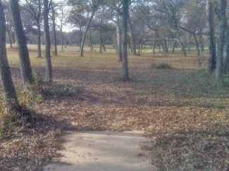 Weatherford Disc Golf Course, Main course, Hole 4 Tee pad
