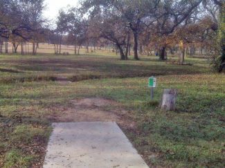 Weatherford Disc Golf Course, Main course, Hole 3 Tee pad