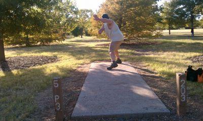 Lake Wichita Park, Main course, Hole 5 Tee pad