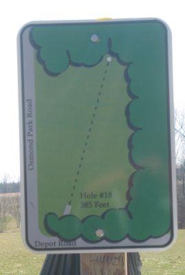 Tim Osmond Sports Complex, Main course, Hole 18 Hole sign