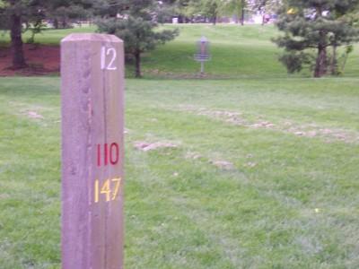 Jericho Lake, Main course, Hole 12 Hole sign