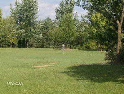 Twin Creeks Park, Main course, Hole 9 Tee pad