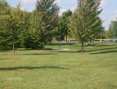 Twin Creeks Park, Main course, Hole 4 Tee pad