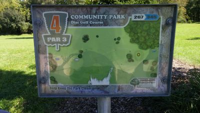 Community Park, Main course, Hole 4 Hole sign