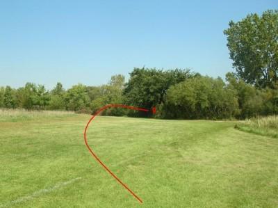 Community Park, Main course, Hole 2 Short tee pad