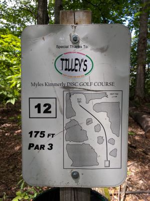 Myles Kimmerly, Main course, Hole 12 Hole sign