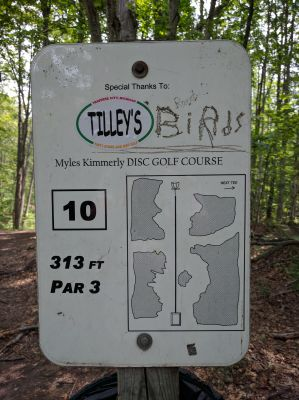 Myles Kimmerly, Main course, Hole 10 Hole sign