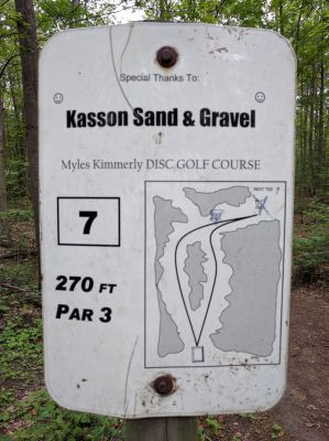 Myles Kimmerly, Main course, Hole 7 Hole sign