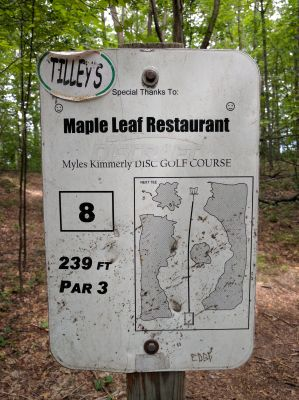 Myles Kimmerly, Main course, Hole 8 Hole sign