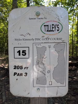 Myles Kimmerly, Main course, Hole 15 Hole sign