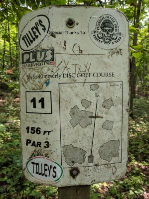 Myles Kimmerly, Main course, Hole 11 Hole sign