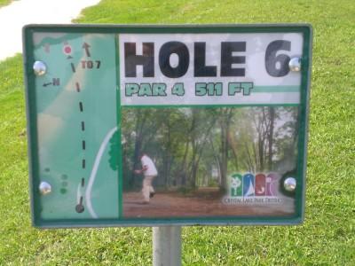 Lippold Park, Main course, Hole 6 Hole sign