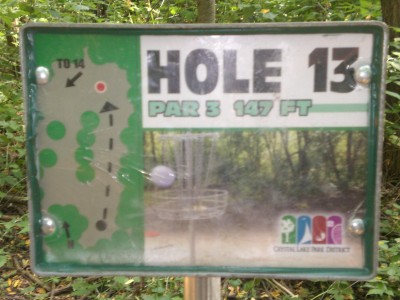 Lippold Park, Main course, Hole 13 Hole sign